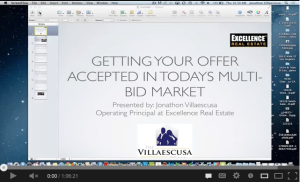 Recorded Getting your Client's Offer accepted in Today's Multi-Bid Market